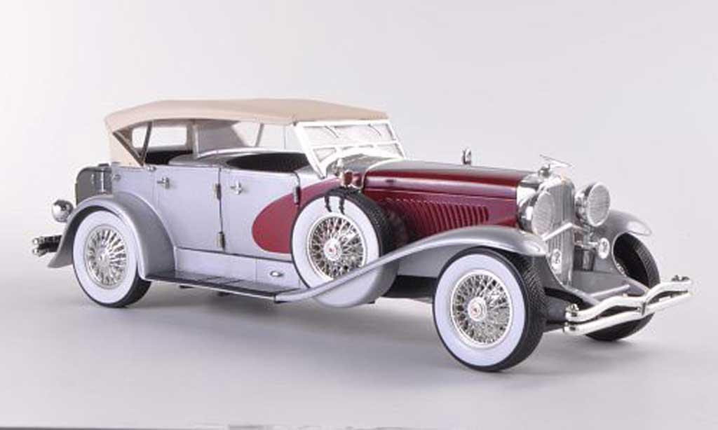 Duesenberg 1934 1/18 Signature grise grise/rouge miniature
