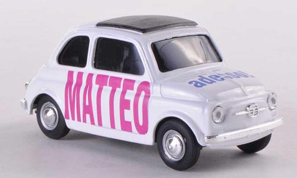 Fiat 500 Brums 1/43 Brumm MATTEO adesso blanche  miniature