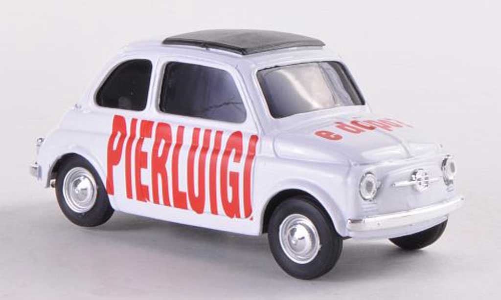 Fiat 500 Brums 1/43 Brumm PIERLUIGI e dopo white diecast