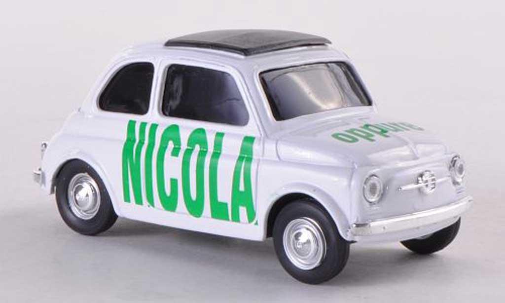Fiat 500 Brums 1/43 Brumm NICOLA oppure blanche miniature