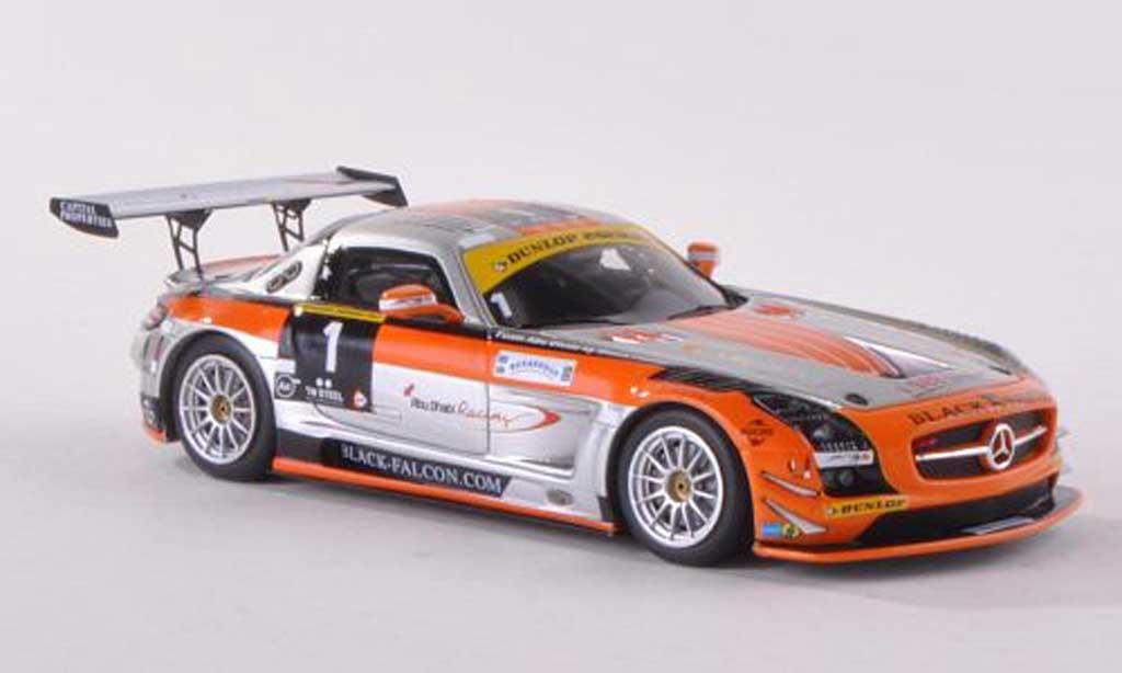 Mercedes SLS 1/43 Spark GT3 No.1 Abu Dhabi Racing 24h Dubai 2013 Al Qubaisi/Schneider/Bleekemolen/Edwards miniature