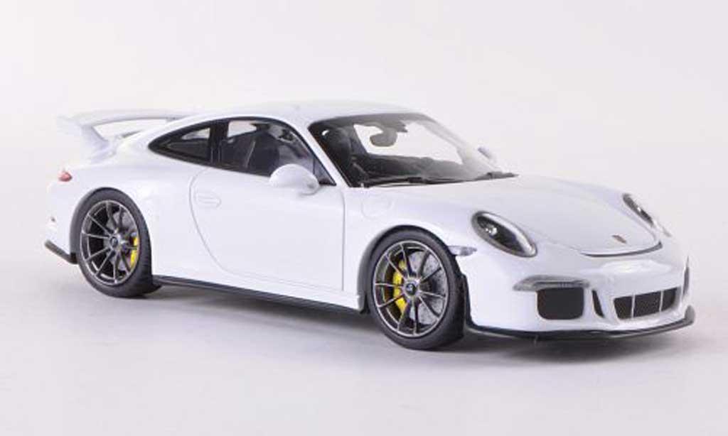 Porsche 991 GT3 1/43 Minichamps white 2013 diecast model cars
