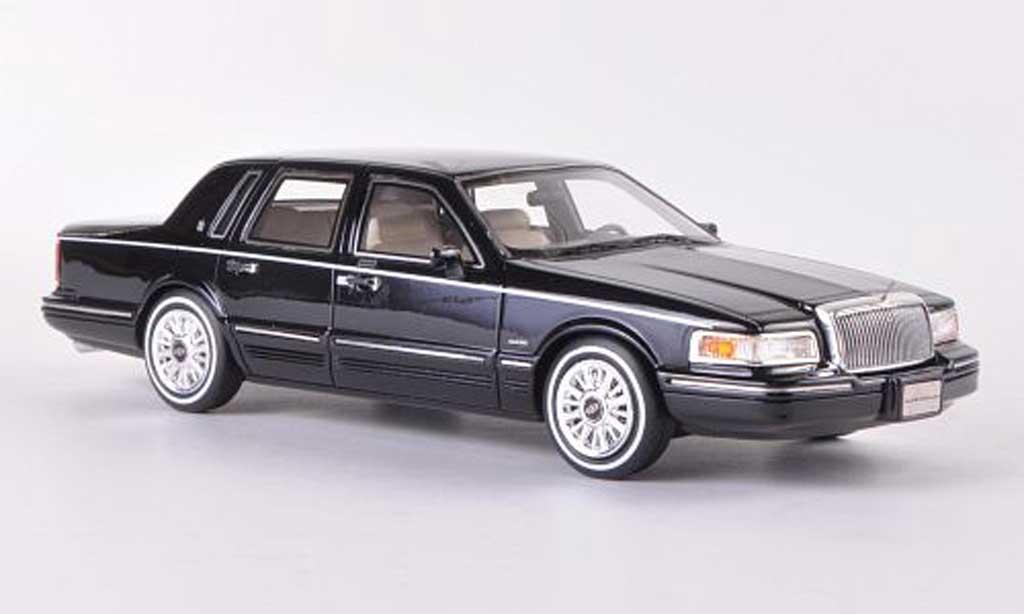 Lincoln Town Car 1997 1/43 GLM 1997 noire 1997 miniature
