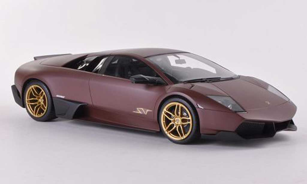 Lamborghini Murcielago LP670 1/18 MR Collection SV Fixed Wing mattmarron miniature
