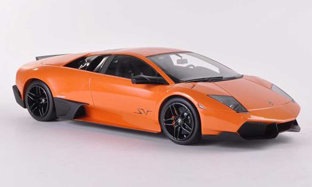 Lamborghini Murcielago LP670 1/18 MR Collection SV Fixed Wing orange miniature