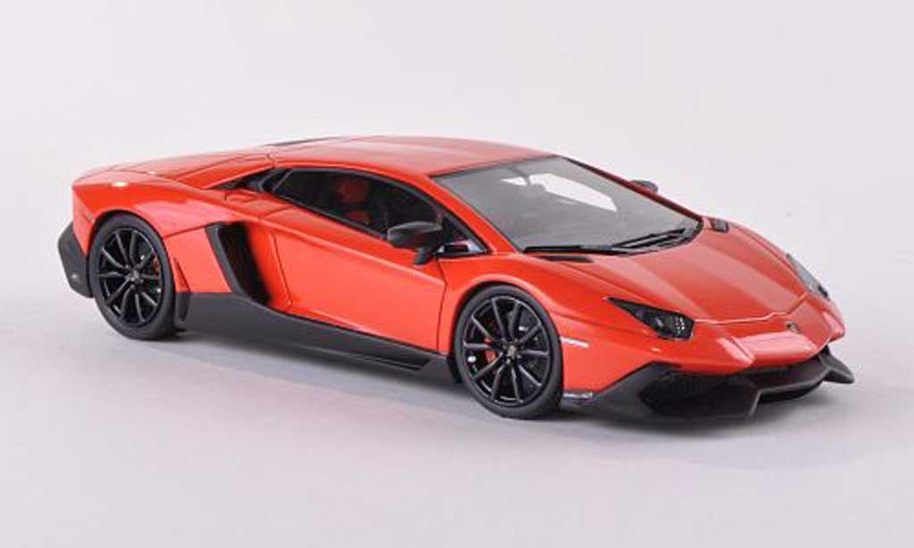 Lamborghini Aventador LP720-4 1/43 Look Smart orange 50. Anniversary diecast model cars