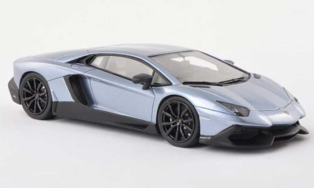 Lamborghini Aventador LP720-4 1/43 Look Smart 50eme Anniversaire bleu clair diecast model cars