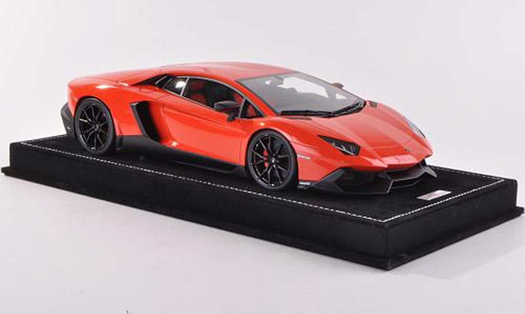 Lamborghini Aventador LP720-4 1/18 MR Collection 50th Anniversario orange diecast model cars