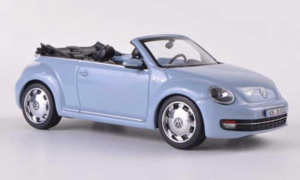 Volkswagen Beetle Cabriolet 1/43 Schuco blu grigia  2012 miniatura