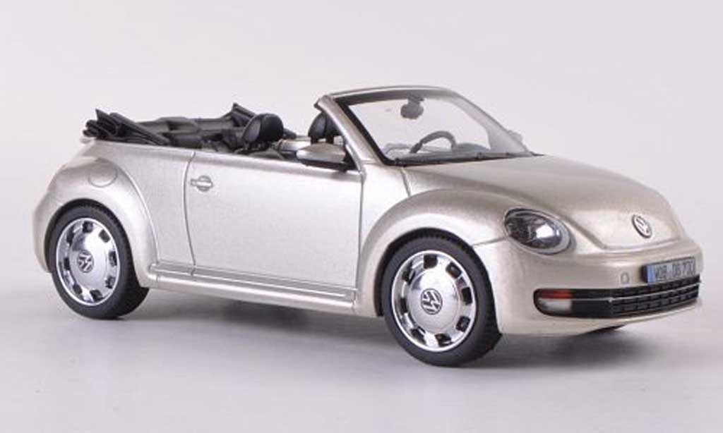 Volkswagen Beetle Cabriolet 1/43 Schuco beige  2012 diecast