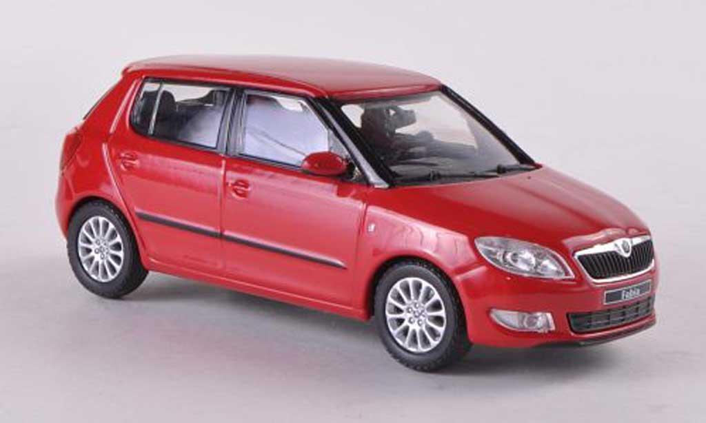 Skoda Fabia II 1/43 Abrex rouge Facelift 2010 miniature