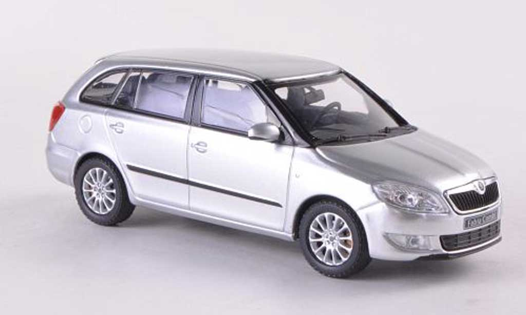 Skoda Fabia II 1/43 Abrex Combi grise Facelift 2010 miniature
