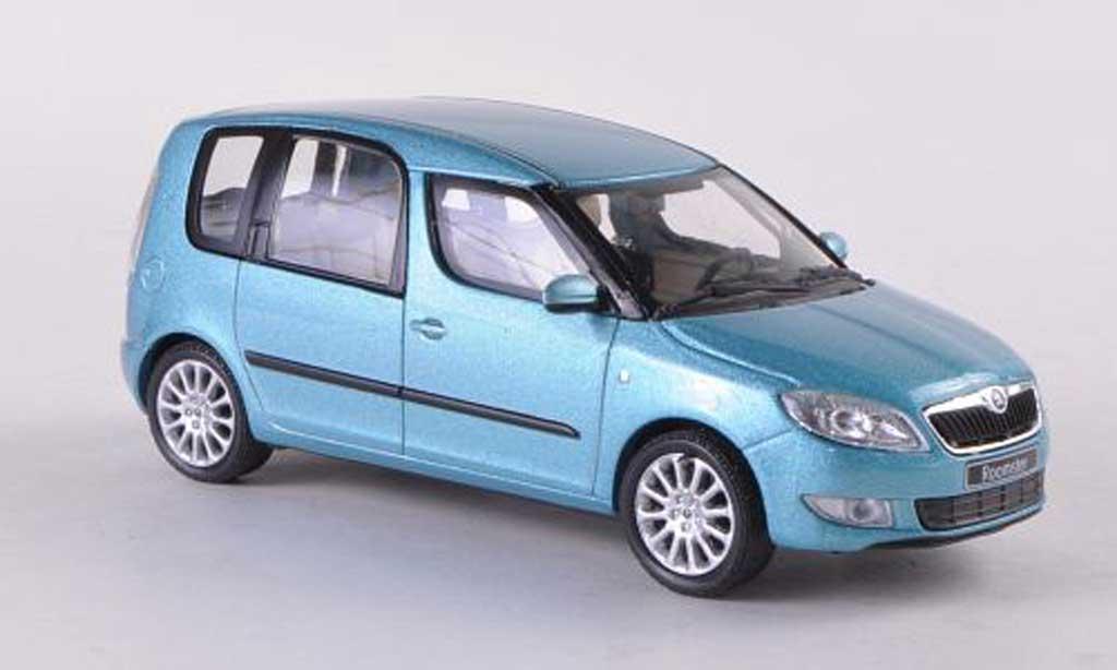 Skoda Roomster 1/43 Abrex bleue Facelift 2010 miniature