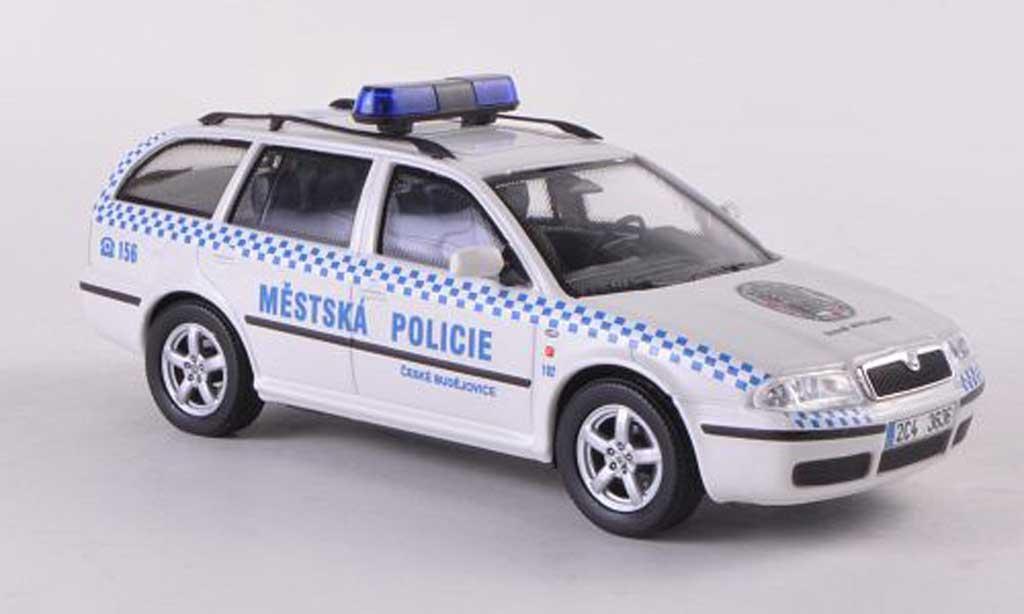 Skoda Octavia Combi 1/43 Abrex Tour Mestska Policie Ceske Budejovice Polizei miniature