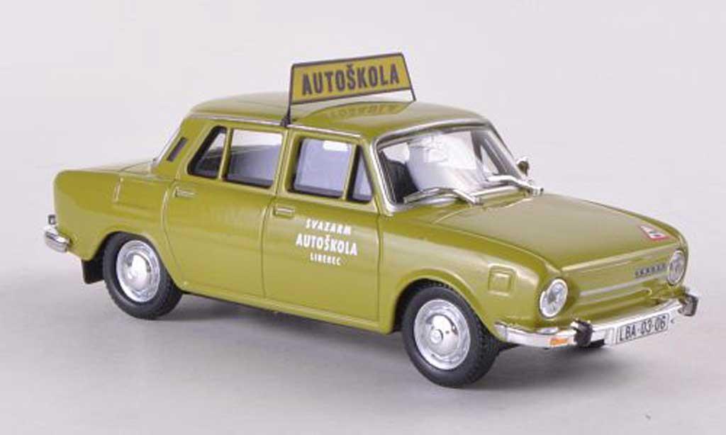 Skoda 110 1/43 Abrex L Autoskola Svazarm Liberec gun miniature