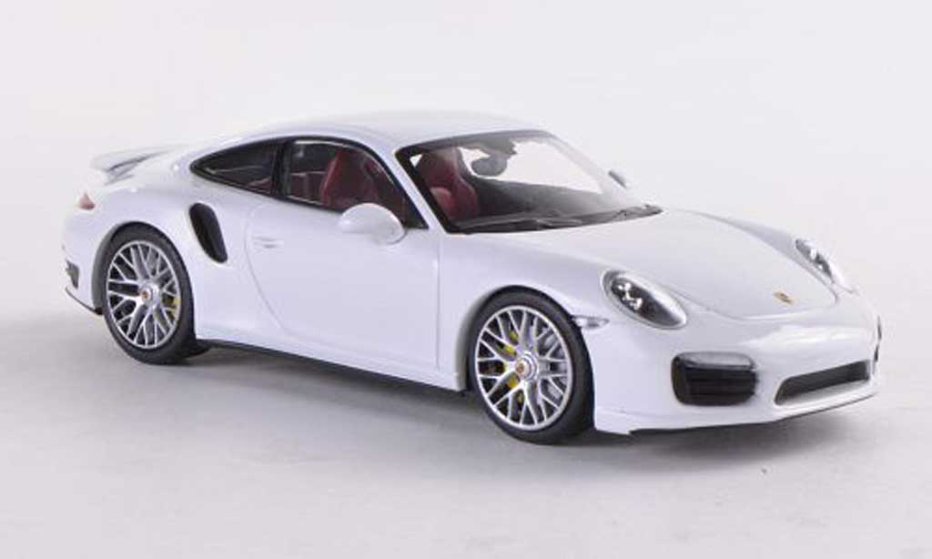 Porsche 991 Turbo S 1/43 Minichamps white 2012 diecast model cars