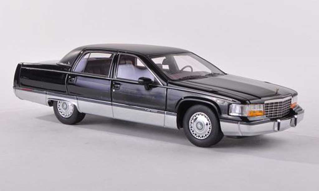 Cadillac Fleetwood Brougham 1/43 American Excellence noire/lumineuses-noire limitee edition 300 piece 1994 miniature