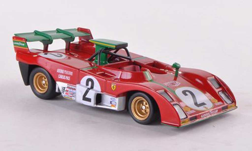 Ferrari 312 P 1/43 Ferrari Racing Collection No.2 A.Merzario/C.Pace 1000km Zeltweg 1973 miniature