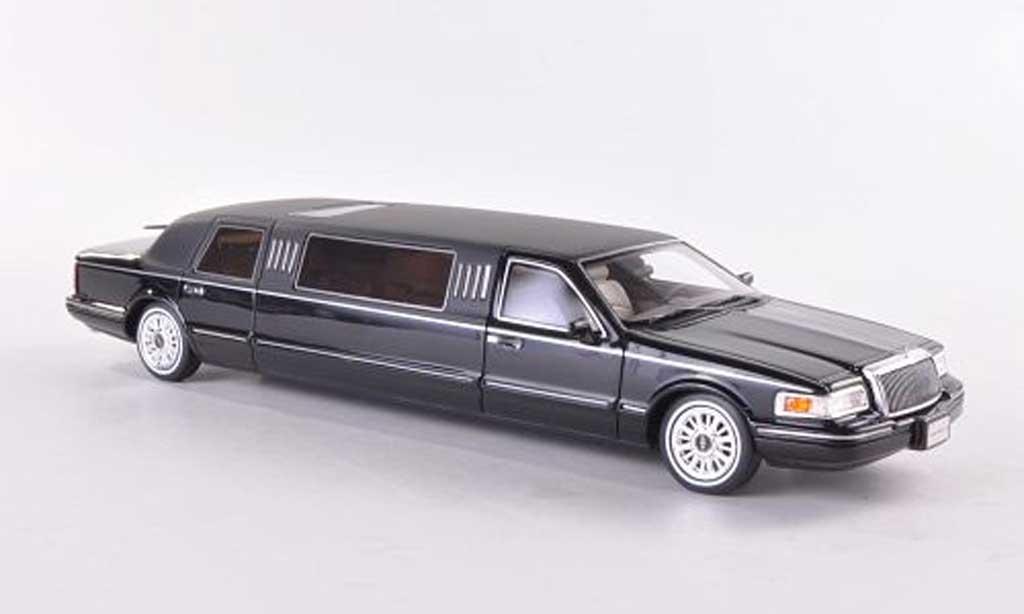 Lincoln Town Car 1997 1/43 GLM 1997 Limousine noire/mattnoire 1997 miniature