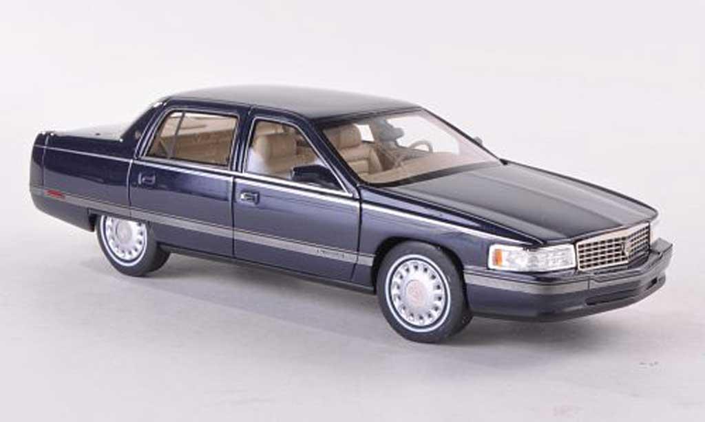 Cadillac Sedan DeVille 1/43 GLM bleue 1994 miniature