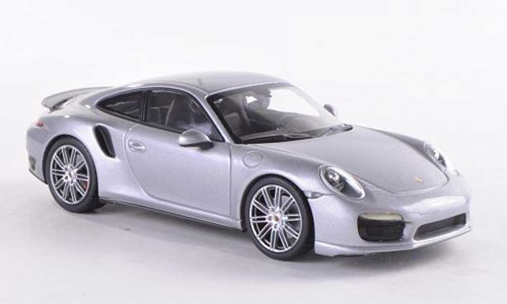 Porsche 991 Turbo 1/43 Minichamps grey 2013 diecast model cars