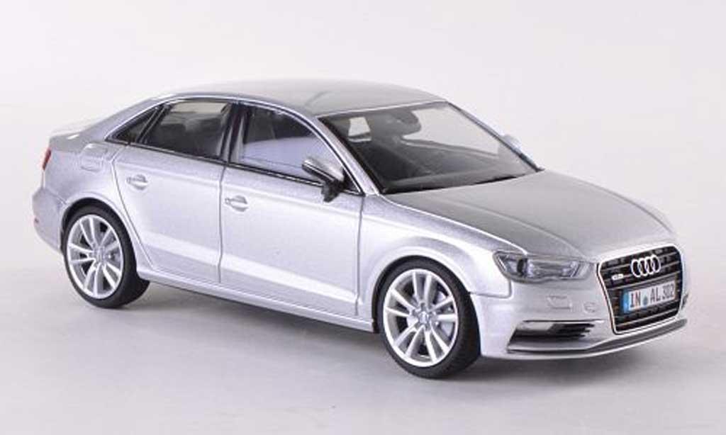 Audi A3 1/43 Herpa Limousine grise 2013 miniature
