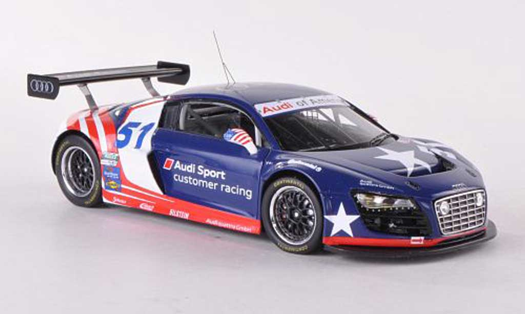 Audi R8 LMS 1/43 Spark Grand-Am No.51 of America Prasentationsfahrzeug 2012 miniature