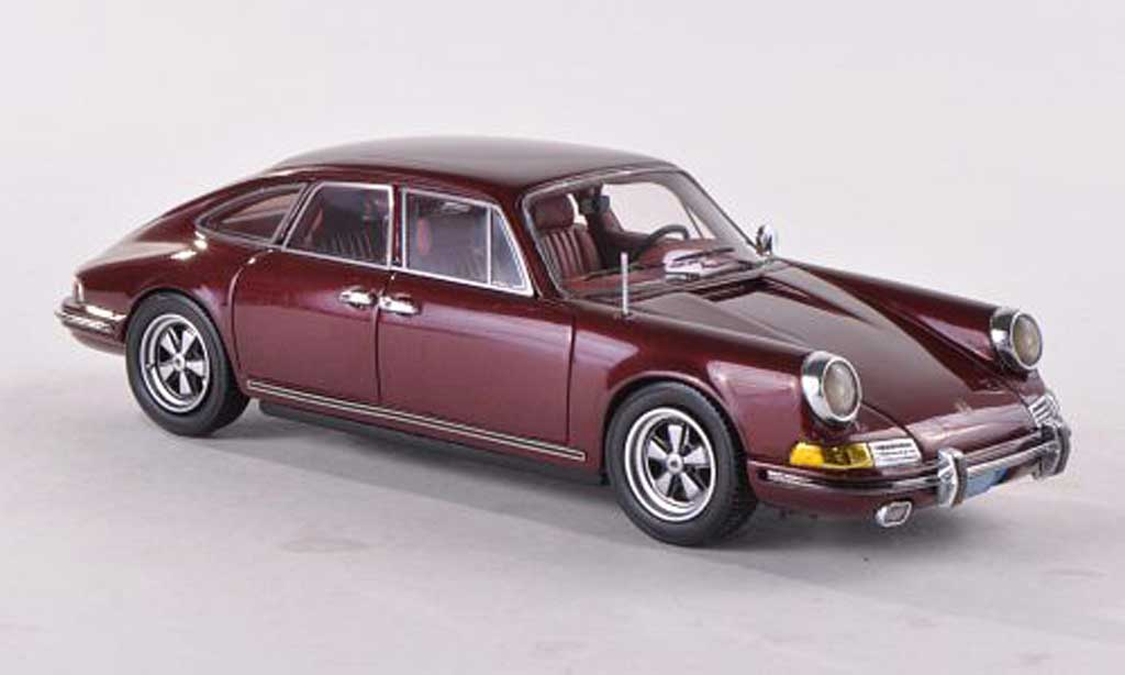 Porsche 911 1/43 Matrix Troutman & Barnes 4-Door Sedan  rosso 1972 miniatura