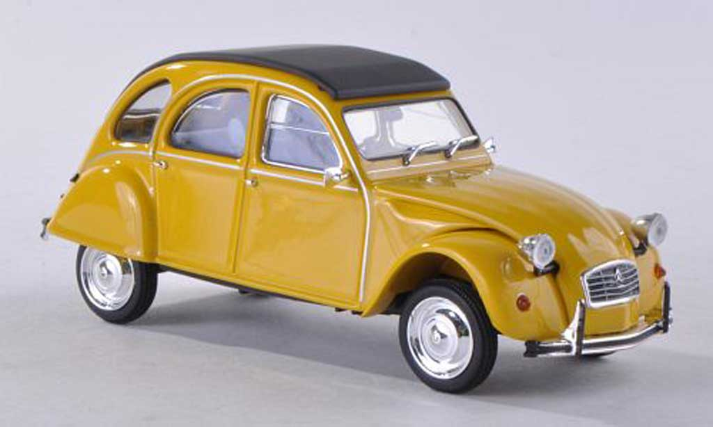 Citroen 2CV 1/43 Minichamps black-yellow  1980 diecast