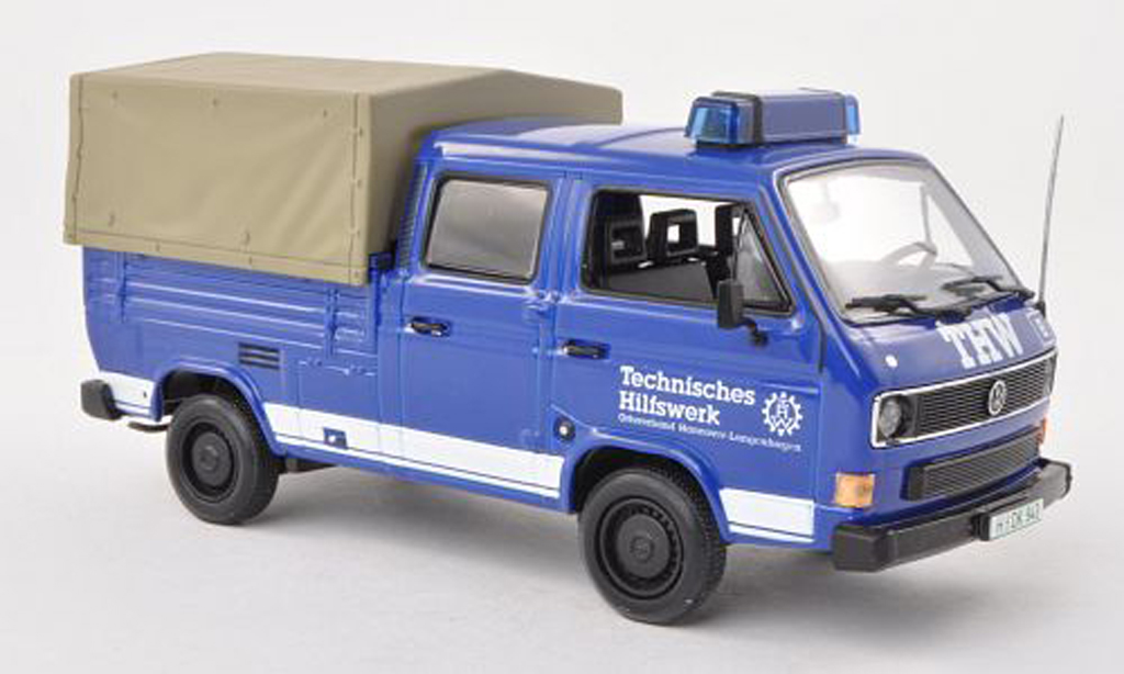 Volkswagen T3 1/43 Minichamps DoKa-Platform THW 1983 diecast
