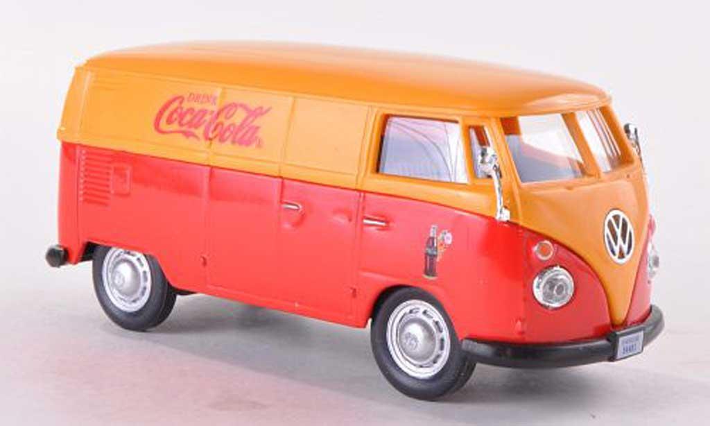Volkswagen T1 1/43 Motor City Classics Kasten Coca-Cola rouge/jaune 1962 miniature