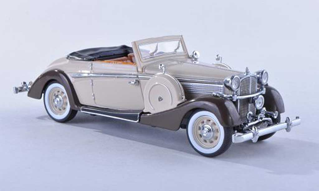 Maybach SW 1/43 Signature 38 cabriolet beige/brun 2-portes 1937 miniature