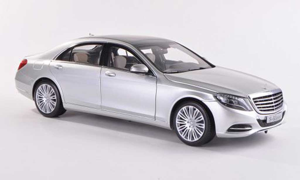 Mercedes Classe S 1/18 Norev (W222) grey 2013 diecast model cars