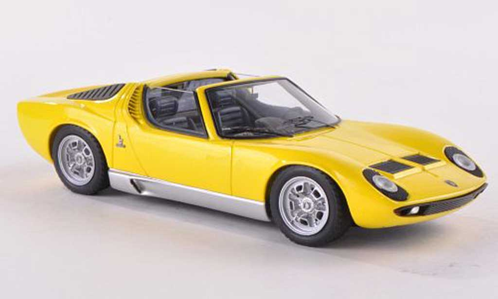 Lamborghini Miura Roadster 1/43 Look Smart giallo Brussel  1968 miniatura