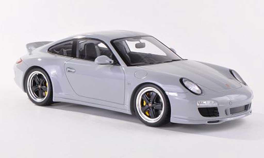 Porsche 997 S 1/18 Spark Carrera port Classic grey mit greyen treifen diecast model cars