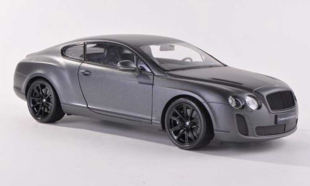 Bentley Continental Supersports 1/18 Welly matt anthrazit LHD  modellautos