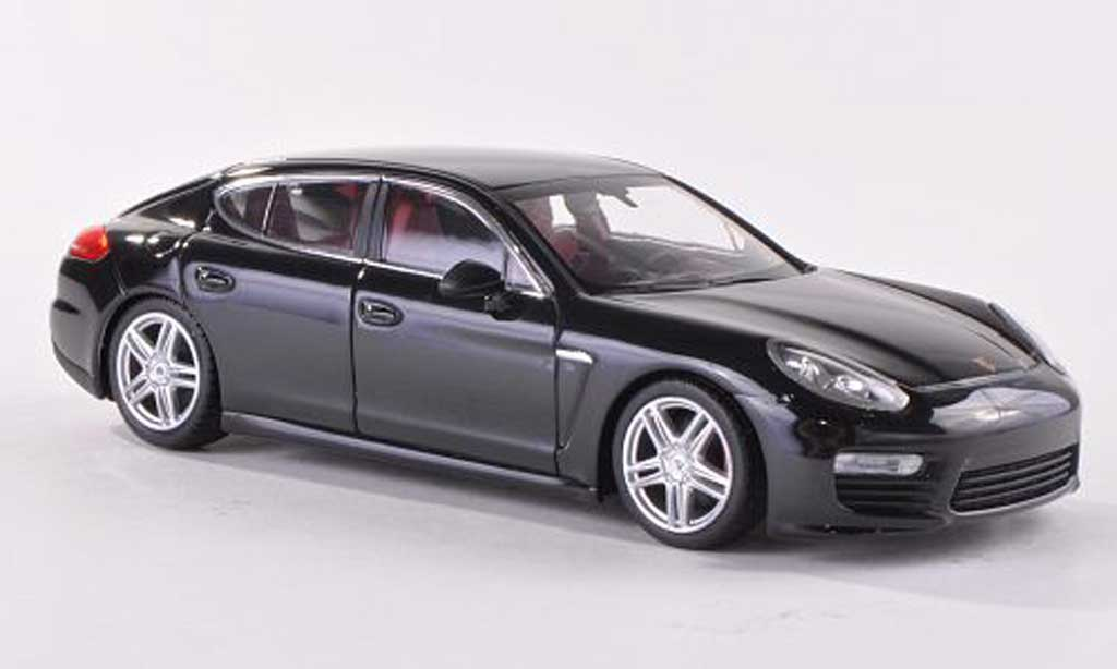 Porsche Panamera Turbo S 1/43 Minichamps Turbo noire Facelift 2012 miniature