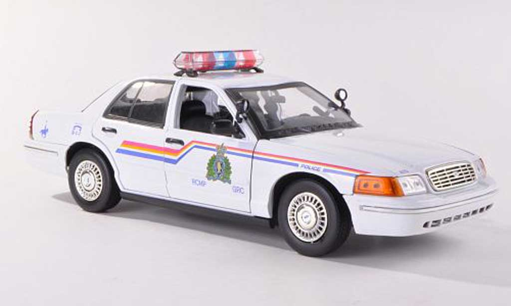 Ford Crown 1/18 Motormax Royal Canadian Mounted Police Polizei Kanada miniature