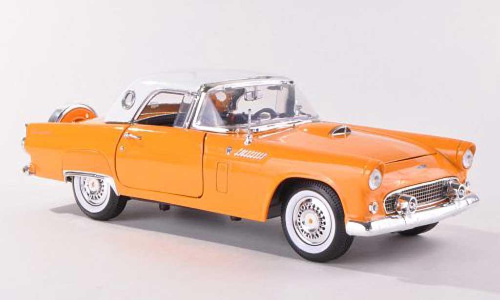 Ford Thunderbird 1956 1/18 Motormax Hardtop jaune/blanche miniature