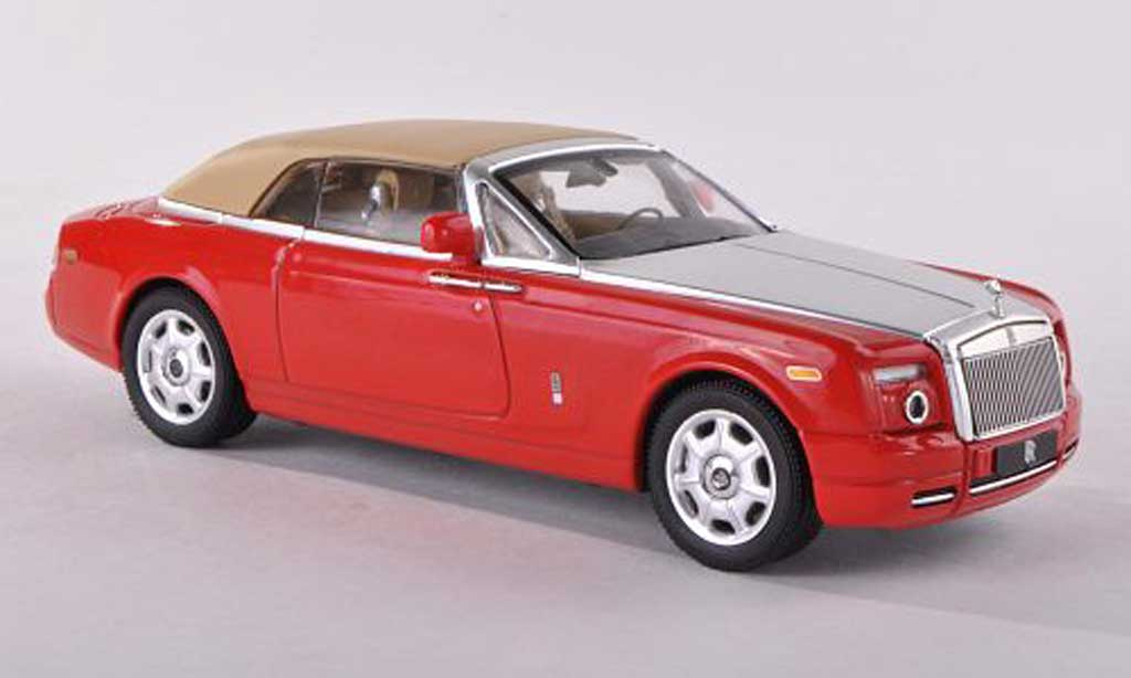 Rolls Royce Phantom 2007 1/43 IXO Drophead Coupe rouge/grise/beige ferme miniature
