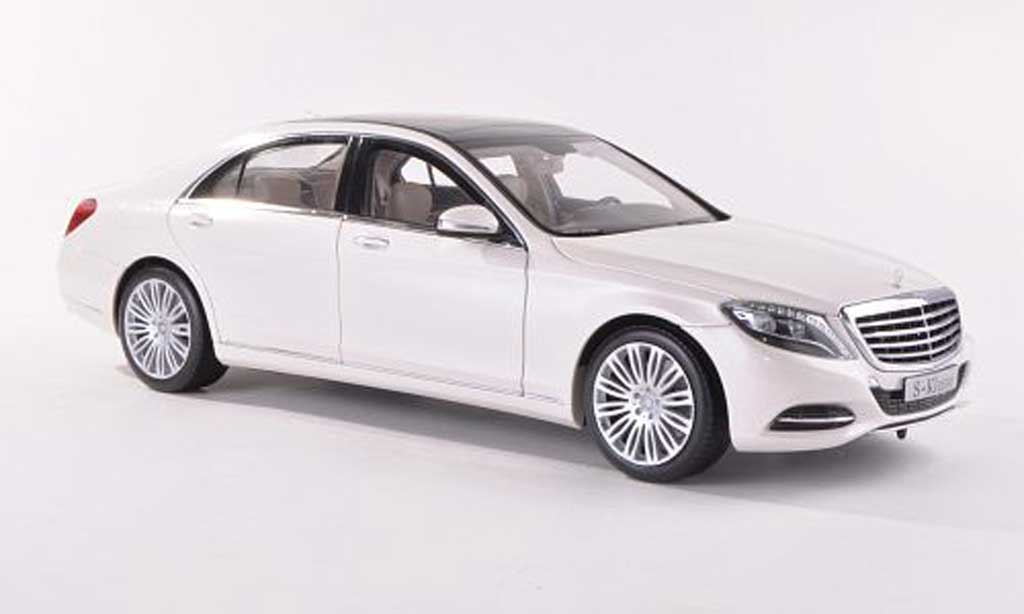 Mercedes Classe S 1/18 Norev (W222) white 2013 diecast model cars