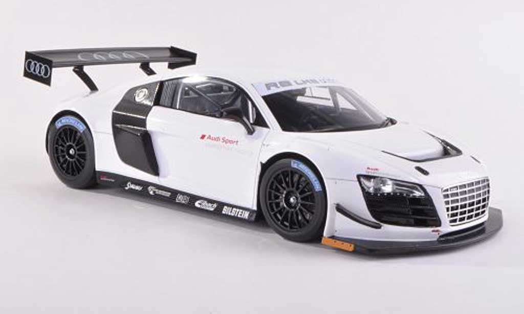 Audi R8 LMS 1/43 Spark Ultra white Plain Body Version  2012 diecast
