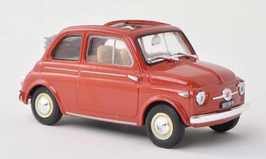 Fiat 500 1/43 Brumm Nuova red-brun offenes toit rabattable 1957 diecast model cars