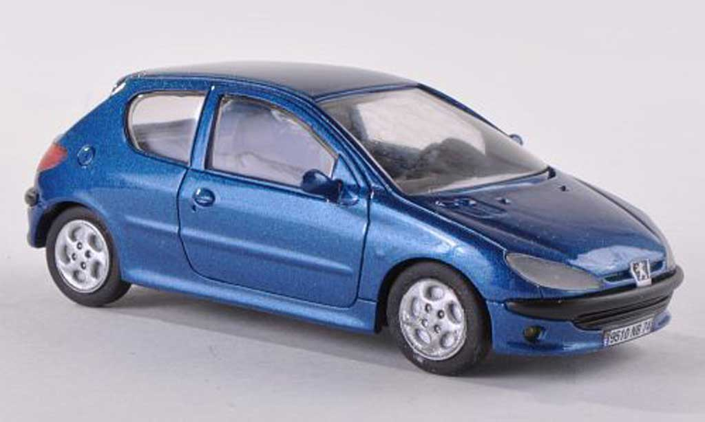 Peugeot 206 1/43 Paradcar bleu 3-portes