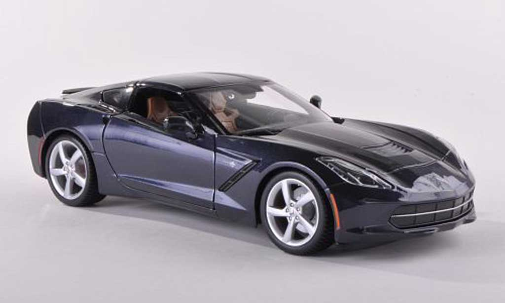 Chevrolet Corvette C7 1/43 Maisto Stingray (C7) black-bleu diecast