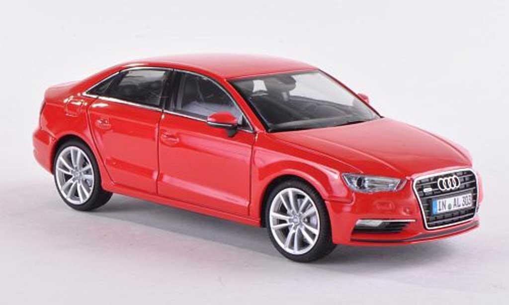Audi A3 1/43 Herpa Limousine rouge  2013 miniature