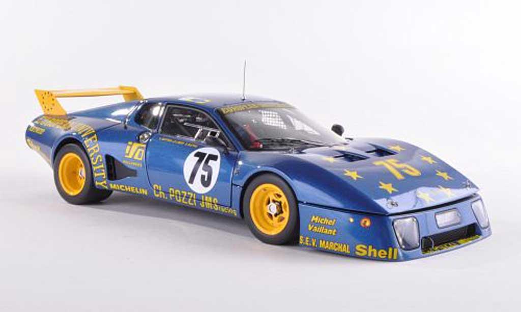 Ferrari 512 BB LM 1/18 BBR Models No.75 Team JMS Racing 24h Le Mans 1980 Gutteny/Libert/Blynie coche miniatura