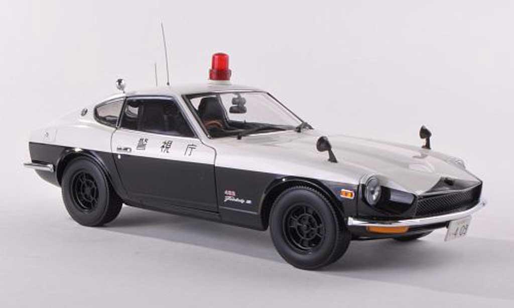 Nissan Fairlady Z Z432 1/43 Kyosho Tokyo Metropolitan Police Departement 1970 miniatura