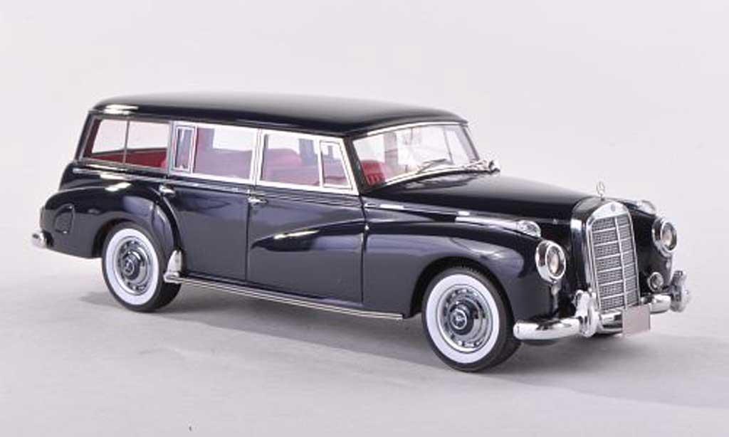 Mercedes 300 C 1/43 Matrix (W186) Binz camionnette negro 1956 miniatura