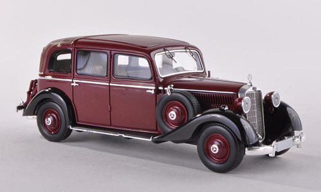 Mercedes 260 D 1/43 Esval Models Pullmann Landaulet noire-rouge/noire 1936 miniature